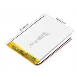 3.7V 3000mAh 306090 SLIM Lithium polymer akkumulátor