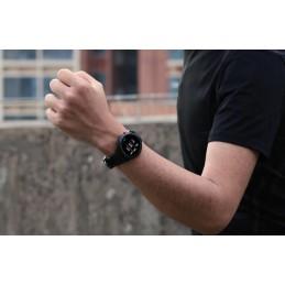 LEMFO fekete színű, fekete bőrszíjas okosóra 476-1oc