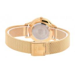 Arany színű elegáns Q&Q uniszex karóra, dátum jelzéssel - 3cm. 466-2oc