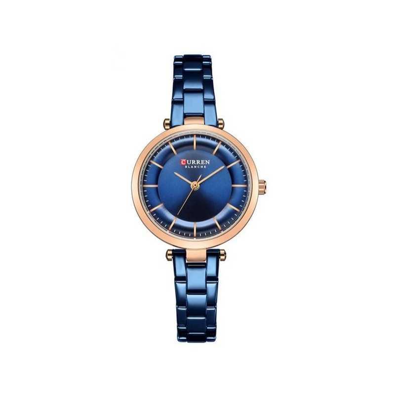 Curren C9054L kék, óarany színű női karóra. 495oc
