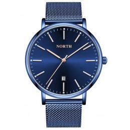 North N-7739 kék színű férfi karóra, dátum kijelzéssel. 496oc