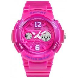 Smael sportos neon rózsaszín női karóra. Rózsaszín, lila 500oc