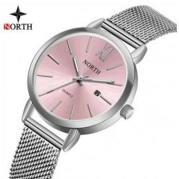 North N-7731 ezüst színű női karóra, rózsaszín számlappal. 502oc