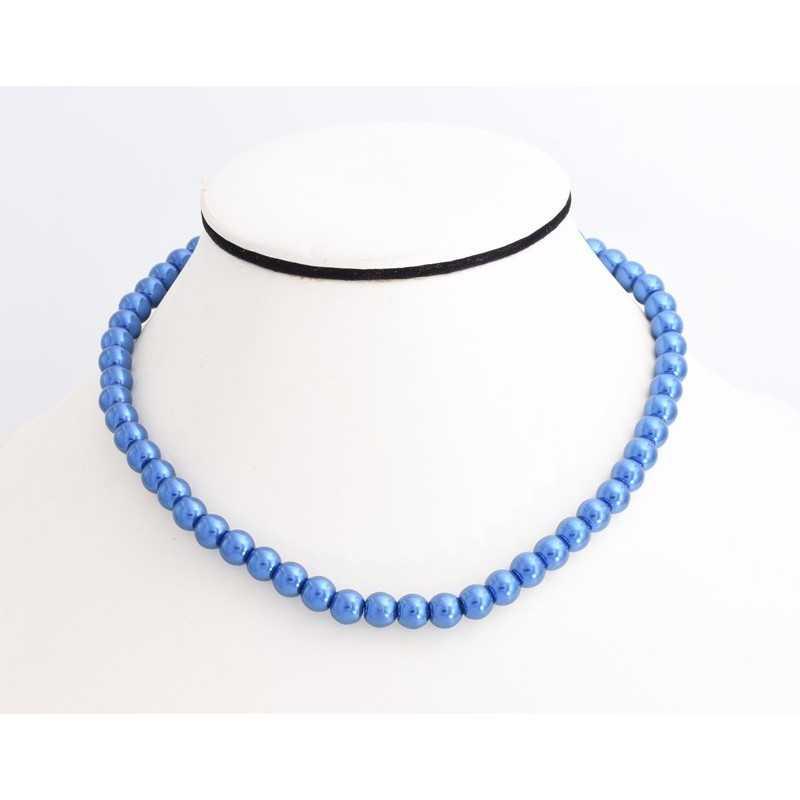 Kék gyöngyökkel díszített nyakék. 00137ec