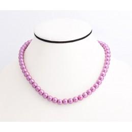 Lila színű gyöngyökkel díszített nyakék. 00139ec