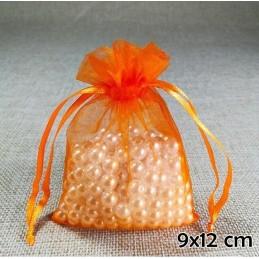 Narancs színű organza ékszertasak. 711-9oc