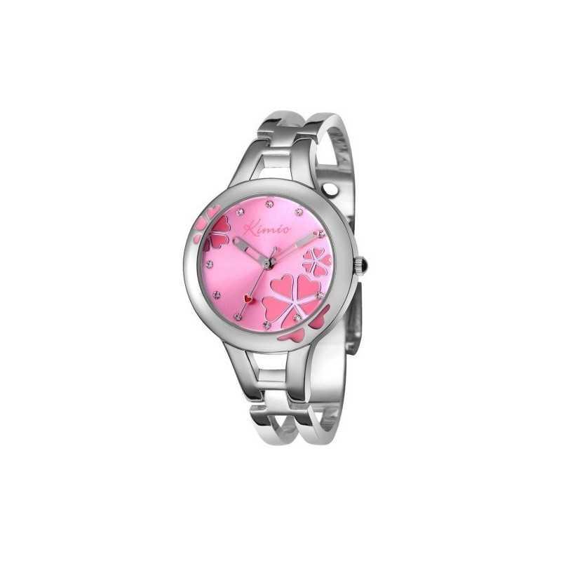 Kimio K425L női karperec óra, rózsaszín számlappal, strasszokkal. 162-1oc