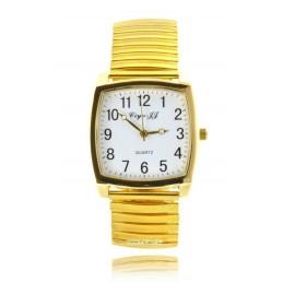 Unisex karóra arany színű rugós szijjal 111-6oc