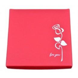 Ajándékboboz ékszer szetthez. Piros doboz, rózsával.