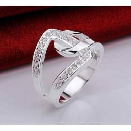 Csiszolt kristályokkal díszített gyűrű 809as