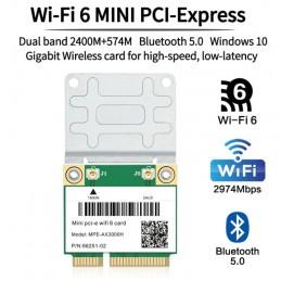 Dual Band 2400Mbps Mini PCI-E Wifi 6 Wireless notebook adapter