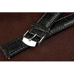 Kék-fekete számlapos fekete bőr szíjjas elegáns karóra. 000167oc
