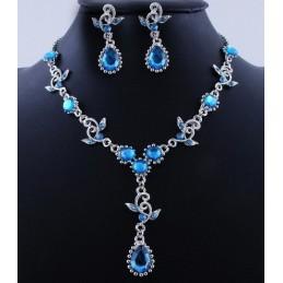Nyaklánc fülbevalóval, kék kövekkel 00004ec